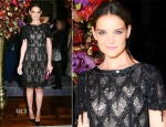 Katie Holmes In Marchesa - St. Regis Midnight Supper Event