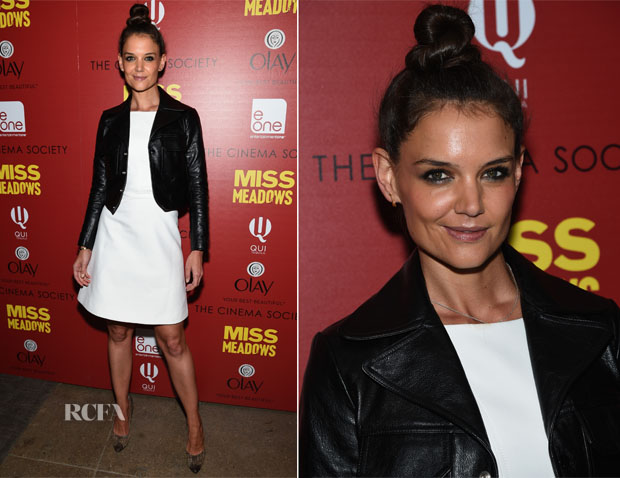 Katie Holmes In Zac Posen - 'Miss Meadows' New York Screening
