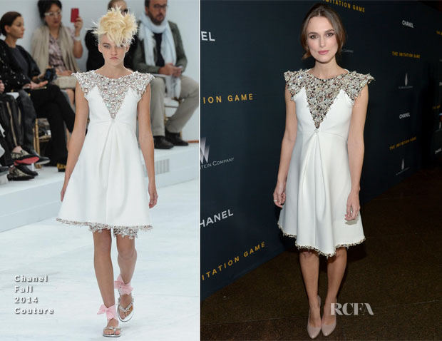 Keira Knightley In Chanel Couture - 'The Imitation Game' LA Screening