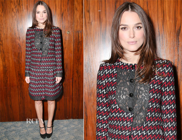 Keira Knightley In Chanel - 'The Imitation Game' New York Luncheon