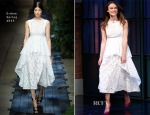 Keira Knightley In Erdem - Late Night with Seth Meyers
