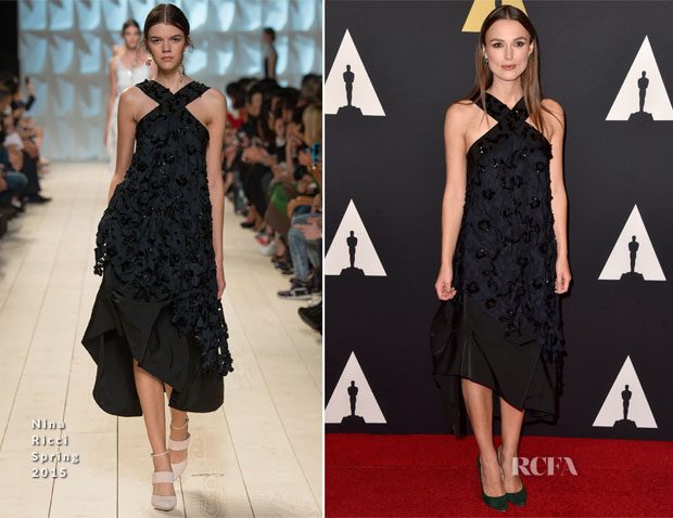 Keira Knightley In Nina Ricci - Academy Of Motion Picture Arts And Sciences' Governors Awards