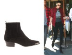 Kendall Jenner's Saint Laurent Duckies Western Suede Boots