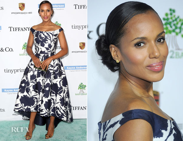 Kerry Washington In Oscar de la Renta - 2014 Baby2Baby Gala