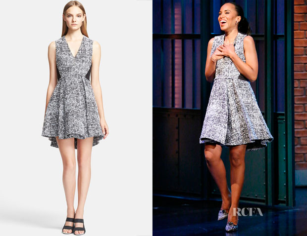 Kerry Washington's Proenza Schouler Tweed Fit & Flare Dress