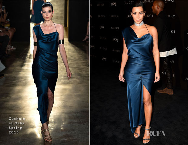 Kim Kardashian In Cushnie et Ochs - 2014 LACMA Art + Film Gala