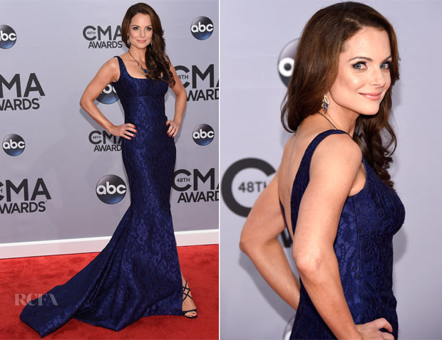 Kimberly Williams Paisley In Romona Keveza - 2014 CMA Awards