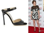 Kristen Stewart's Jimmy Choo Deckle Sandals