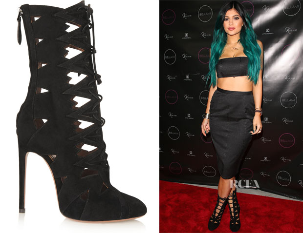 Kylie Jenner's Alaïa Cut-Out Booties