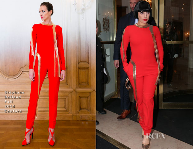 Lady Gaga In Stéphane Rolland Couture – Bristol Hotel