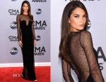 Lily Aldridge In Calvin Klein Collection - 2014 CMA Awards