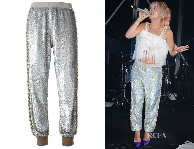 Lily Allen's Ashish Sequinned Embellished Track Pants