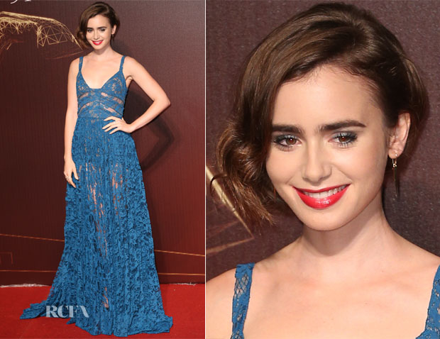 Lily Collins In Elie Saab - 2014 Golden Horse Awards