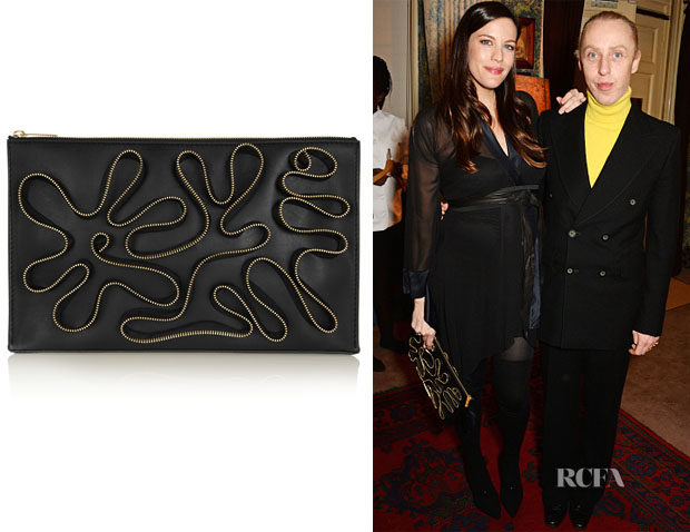 Liv Tyler's Stella McCartney Cavandish Zip-Embellished Faux Leather Clutch