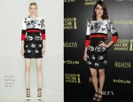 Lizzy Caplan In Prabal Gurung - The Hollywood Foreign Press Association And InStyle Celebrate The 2015 Golden Globe Award Season
