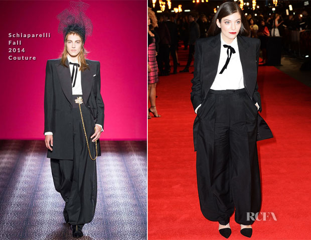 Lorde In Schiaparelli - 'The Hunger Games Mockingjay' – Part 1' London Premiere