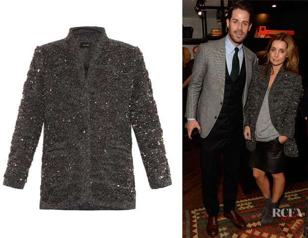 Louise Redknapp's Isabel Marant Embellished Wool Jacket