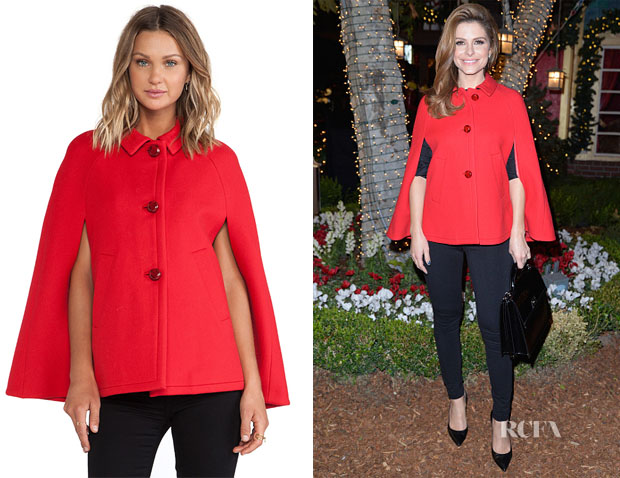 Maria Menounos' Kate Spade New York Wool Capelet