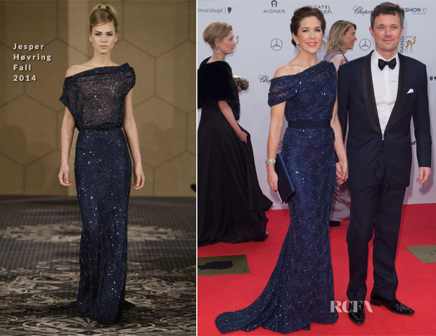 Mary, Crown Princess of Denmark In Jesper Høvring - 2014 Bambi Awards