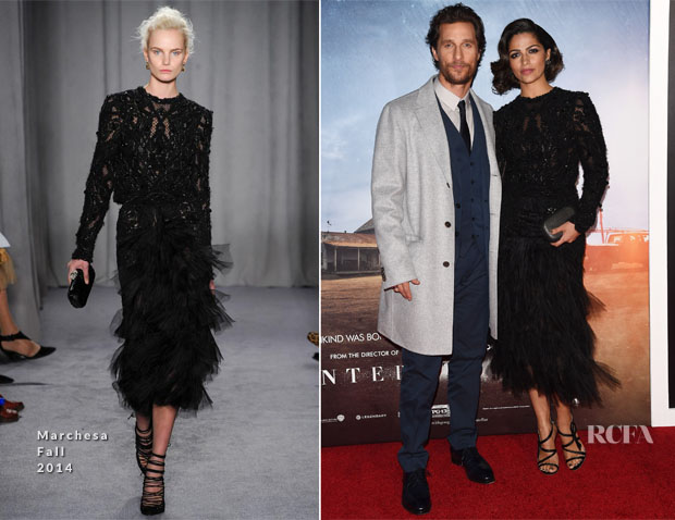 Matthew McConaughey In Dolce & Gabbana and Camila Alves In Marchesa - 'Interstellar' New York Premiere