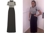 Mel B's Gucci Embellished Silk Gown