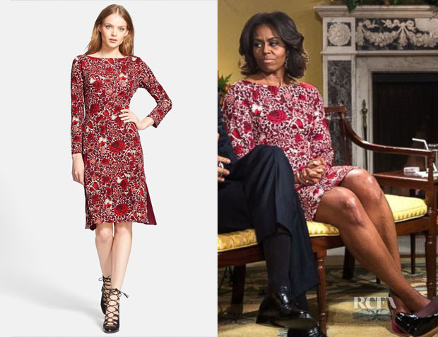 Michelle Obama's Tory Burch 'Ria' Floral Print Shift Dress