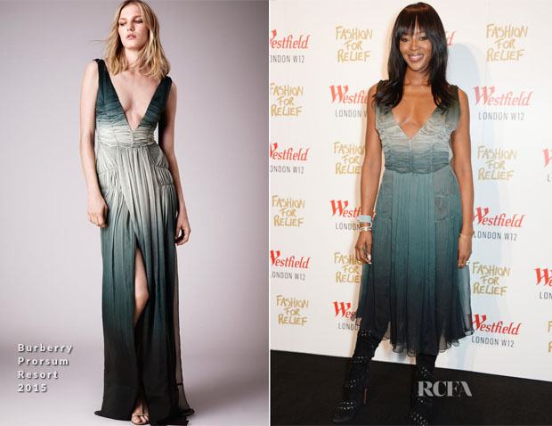 Naomi Campbell In Burberry Prorsum - 'Fashion For Relief' Pop Up Launch