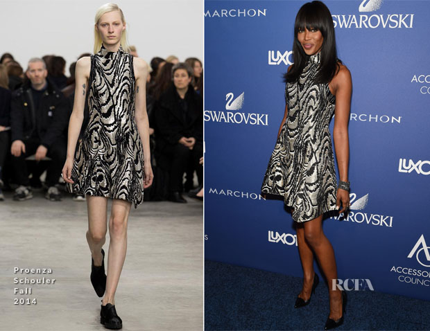 Naomi Campbell In Proenza Schouler - 18th Annual Accessories Council ACE Awards