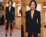 Naomie Harris In Alexander McQueen - La Maison Remy Martin Members Club Launch Party