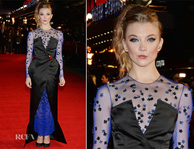 Natalie Dormer In Nicholas Oakwell Couture  - 'The Hunger Games Mockingjay  Part 1′ London Premiere