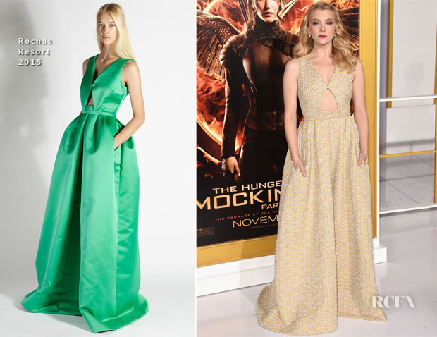 Natalie Dormer In Rochas - 'The Hunger Games Mockingjay - Part 1' LA Premiere