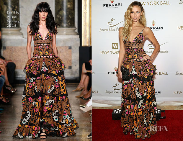 Natasha Poly In Emilio Pucci - The New York Ball The 20th Anniversary Benefit