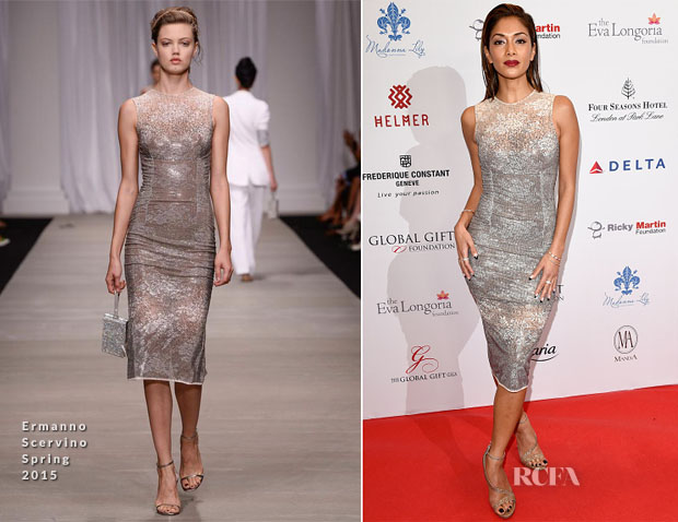 Nicole Scherzinger In Ermanno Scervino - 5th Global Gift Gala