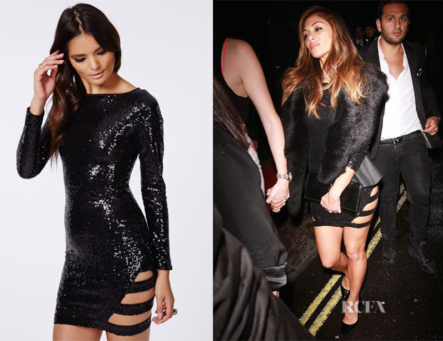 Nicole Scherzinger's MissGuided Nicole X Cut Out Sequin Dress