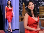 Olivia Munn In Vivienne Westwood - The Tonight Show Starring Jimmy Fallon