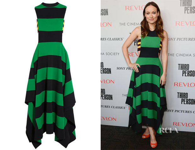 Olivia Wilde's Stella McCartney Striped Jersey Maxi Dress