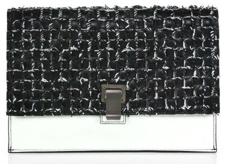 Proenza Schouler Woven Two-Tone Small Lunch Bag