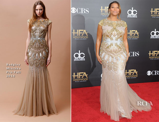 Queen Latifah In Badgley Mischka - 2014 Hollywood Film Awards