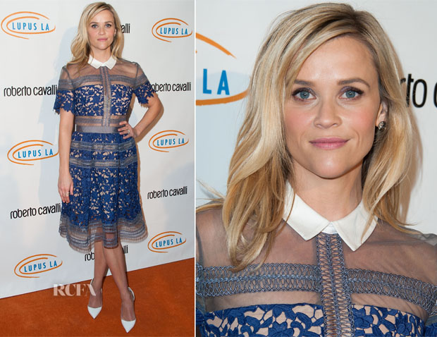Reese Witherspoon In Self-Portrait -  12th Annual Lupus LA Hollywood Bag Ladies Luncheon