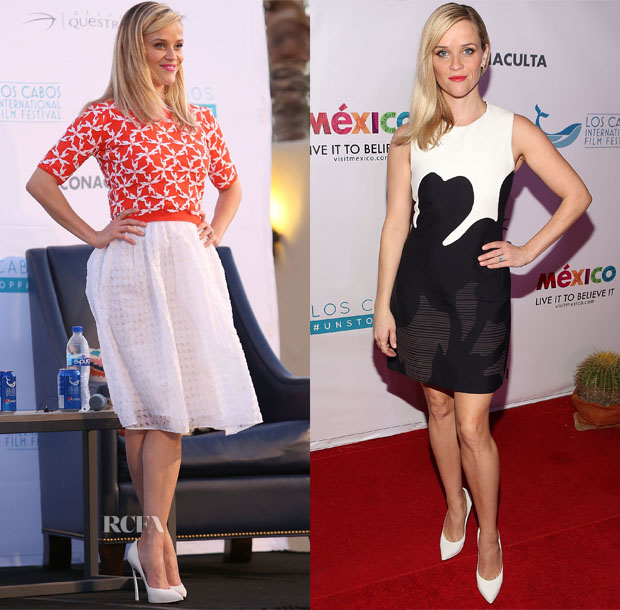 Reese Witherspoon In Tanya Taylor & Calvin Klein Collection - Los Cabos International Film Festival