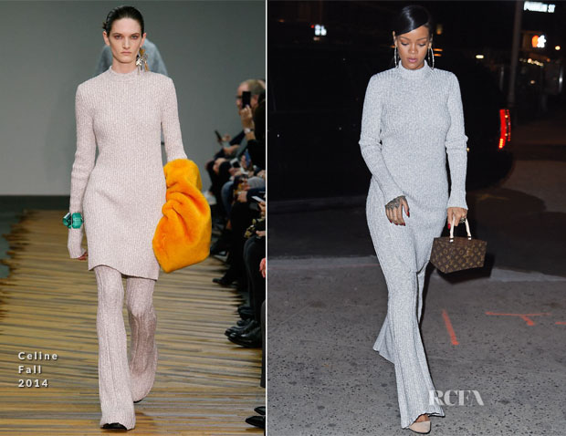 Rihanna In Celine - Out In New York City