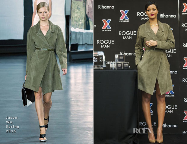 Rihanna In Jason Wu - Rogue Man Perfume Promotion