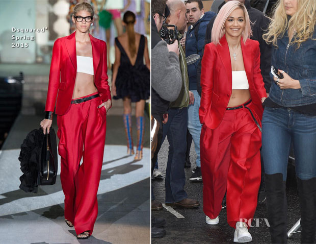 Rita Ora In Dsquared² - Band Aid 30 Single Recording