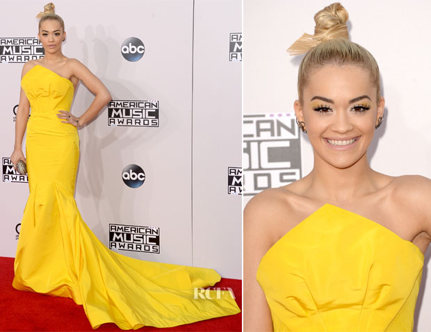 Rita Ora In Zac Posen – 2014 American Music Awards