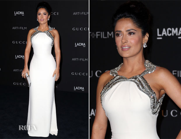 Salma Hayek In Gucci - 2014 LACMA Art + Film Gala