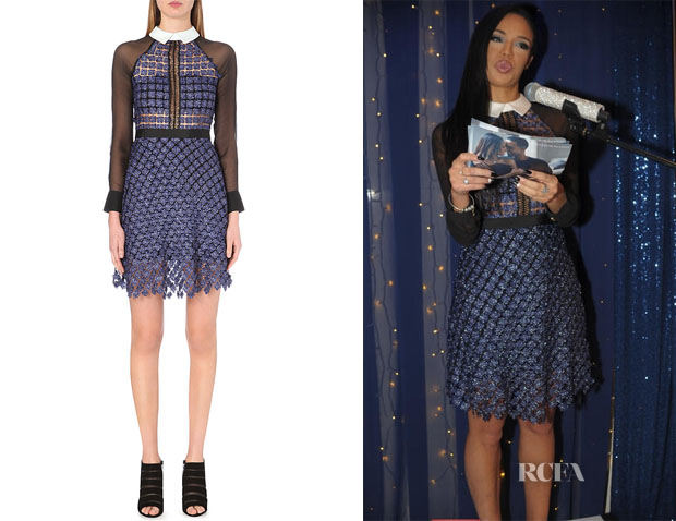 Sarah Jane Crawford's Self-Portrait Fireflies metallic dress