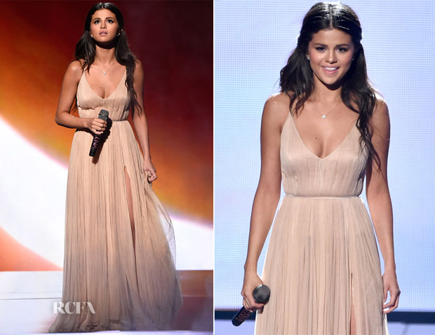 Selena Gomez In Giorgio Armani  - 2014 American Music Awards