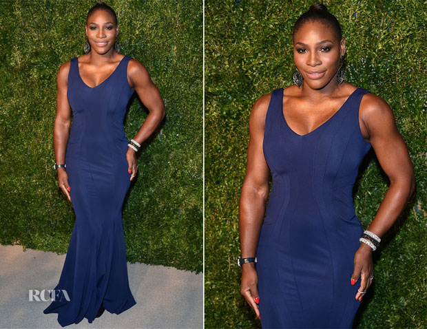 Serena Williams In ZAC Zac Posen - 2014 CFDA Vogue Fashion Fund Awards