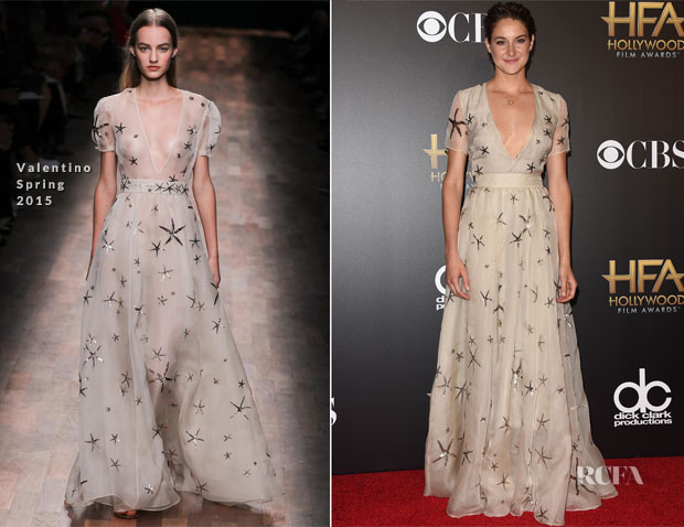 Shailene Woodley In Valentino - 2014 Hollywood Film Awards