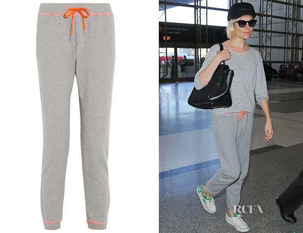 Sienna Miller's Richard Nicoll Cotton-jersey track pants